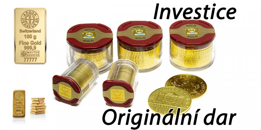 Zlaté mince a slitky: Pasivní investice i originální dárek