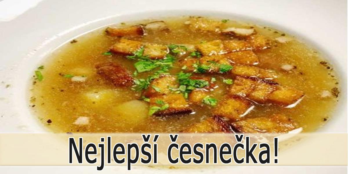 Česneková polévka jako od babičky